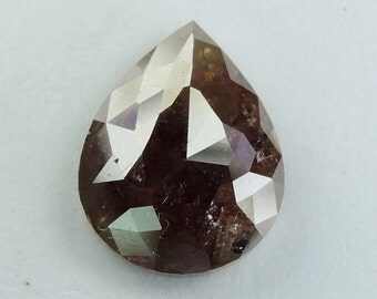2.79 Ct Natural loose Diamond Pear Shape Rose Cut brown Color L549
