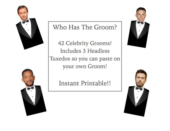 Declarative image inside who has the groom printable