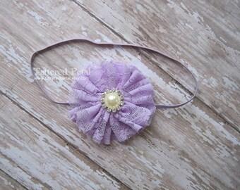 Lavender headband, purple headband, lavender bow, lavender clip, light purple headband