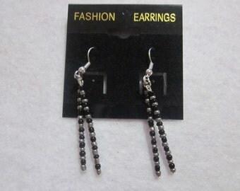 Mini Seed Gunmetal Earrings