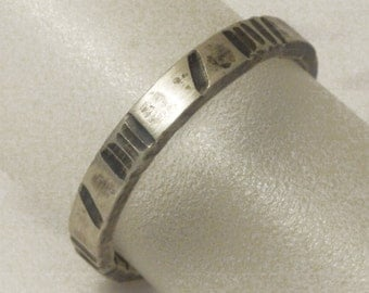 stacking rings silver small stripes