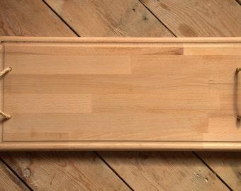solid beech serving board