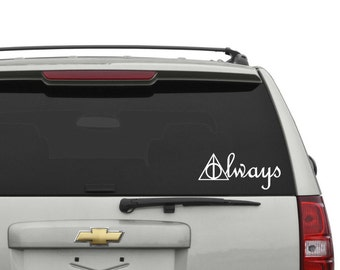 Deathly Hallows Always (Harry Potter) Car Decal