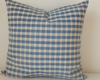 Plaid linen pillow cover,18x18 decorative pillow,throw pillow,accent pillow,same fabric on both sides