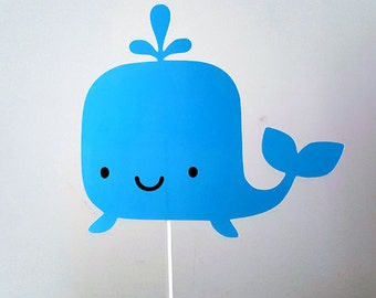 Whale Cake Topper, Whale Birthday, Whale Party, Whale Baby Shower, Under the Sea Cake Topper
