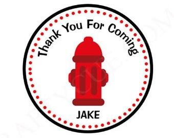 Firetruck Birthday Favor Bag Tags, Firetruck Birthday Goody Bag Tags, Fire Hydrant Favor Bag Tags, Goody Bag Tags