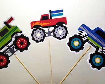 Monster Truck Centerpieces, Monster Truck Birthday, Monster Truck Party