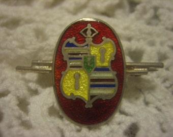 Hawaiian Coat of Arms in Sterling Silver Enamel Coat of Arms Kingdom of Hawai'i