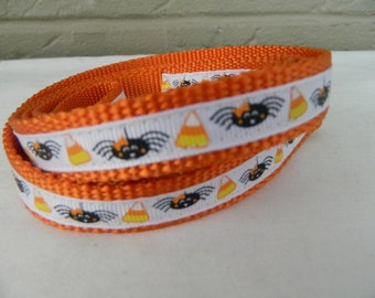 Mini Spiders and Candy Corn Dog Leash