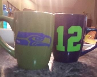 Seahawks mugs-set of 2