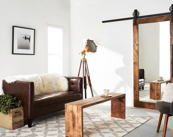 Modern Mirrored Barn Door
