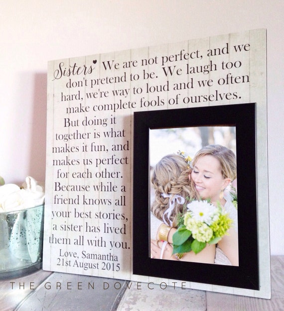 ... Gift - Wedding Gift For Sister - Personalized Wedding Gift - Bridal