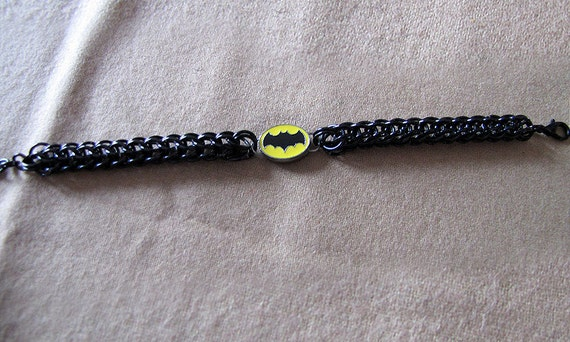 Batman Inspired Black Persian Style Chainmail Bracelet - Item Number 3052