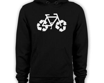 Recycle Bicycle hoodie funny biker hoody BMX apparel