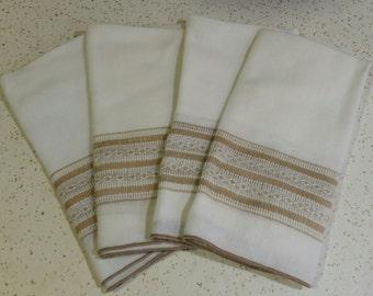 Set of 4 Vintage Cloth Napkins