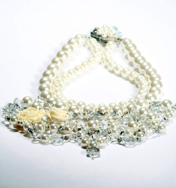 Mallorca Pearl Bridal Statement Necklace By