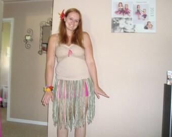 Adult yarn hula skirt, READY TO SHIP