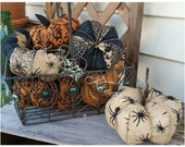Pumpkin, Small Burlap Halloween Pumpkin, Burlap Pumpkin, Halloween Pumpkin, fall pumpkin, fabric pumpkin, home decor pumpkin,