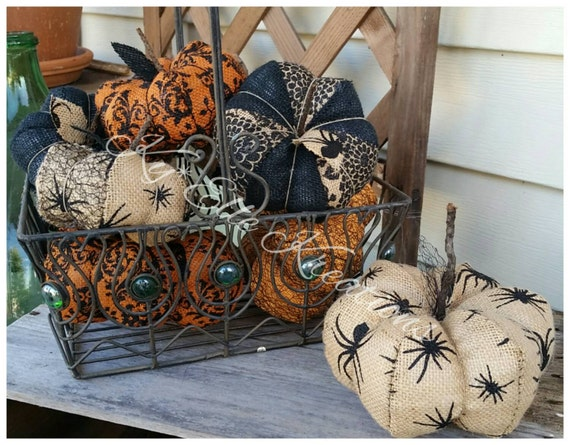 Pumpkin, Small Burlap Halloween Pumpkin, Burlap Pumpkin, Halloween Pumpkin, fall pumpkin, fabric pumpkin, home decor pumpkin,