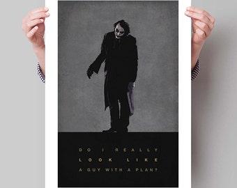 "BATMAN The Dark Knight Inspired Joker Movie Poster Print - 13""x19"" (33x48 cm)"