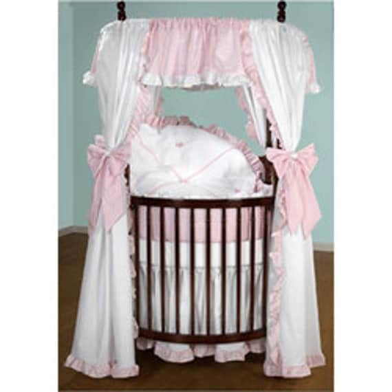 Round Crib Bedding with Drapes by aBabySpecialtyShop