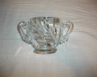 Vintage Cut Glass Sugar Bowl