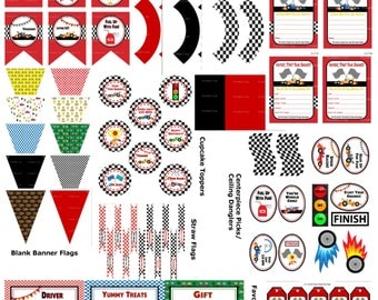 Race Car Birthday Party, Race Car Party Printables, Racing Car Birthday Party, DIY Race Car Party Supplies, Racecar Party -Printables 4 Less