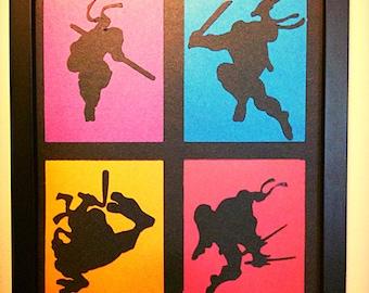 Teenage Mutant Ninja Turtle Wall Art Etsy