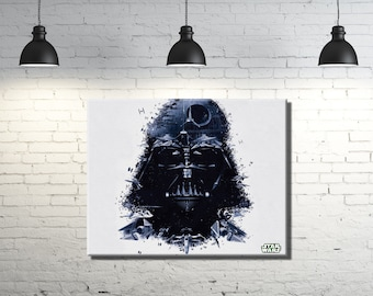 """Star Wars Darth Vader framed canvas wall art 14""""x11""""inches and a 3/4"""" frame"""