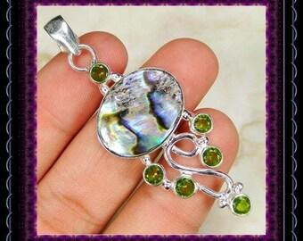 Abalone Silver Pendant