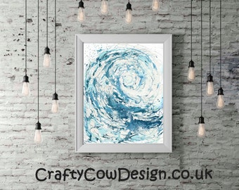 Ocean Waves Poster, Ocean Print, Surf Decor, Poster Surf, Beach Poster, Wave Art Print, Living Room Decor, Sea Lover Gift, Fathers Day Gift