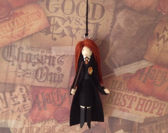 Ginny Weasley Clothespin Doll Ornament