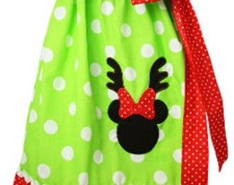 Minnie Mouse Reindeer Dress