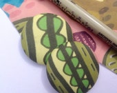 Fabric Buttons ~ Unique Design Buttons, Retro Buttons, Buttons for Sewing,  Crafts,  Jewellery Making.