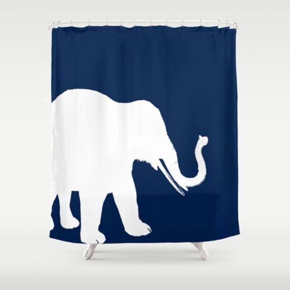 Items similar to shower curtain elephant decor elephant for Elephant bathroom accessories