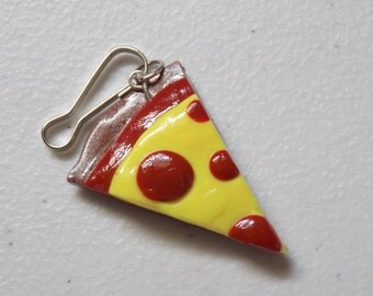 Small Pizza Polymer Clay Charm