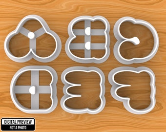 bubble alphabet cookie cutters separate letters selectable sizes