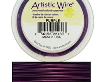 Artistic Wire Purple 24ga - 20 Yard Spool  (WR31824)