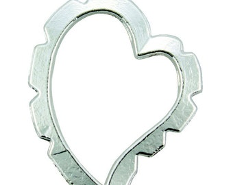 Wrapper Curved Heart by Artistic Wire Silver Plated (Pkg of 5)  (810SP-05)