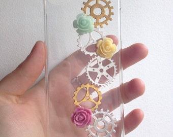 Girly Cute Steampunk iPod 5th Gen Clear Hard Case