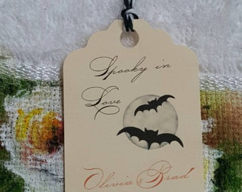 Personalized Favor Tags 2 1/2'', Halloween tags, Thank You tags, Favor tags, Gift tags, Halloween Favor tags,  Halloween wedding
