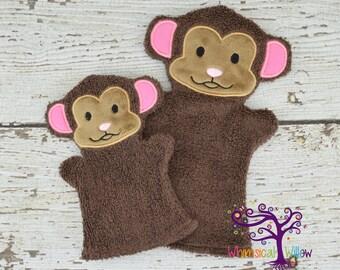 Monkey Bath Buddy Hand Puppet