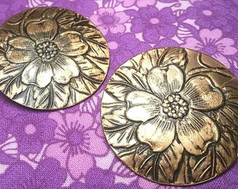 Vintage copper flower earrings