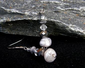River Ice Beaded Earrings