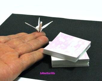 "200 Sheets 2"" x 2"" White Color DIY Chiyogami Yuzen Paper Folding Kit for Origami Cranes ""Tsuru"". (AV paper series). #CRK-31."