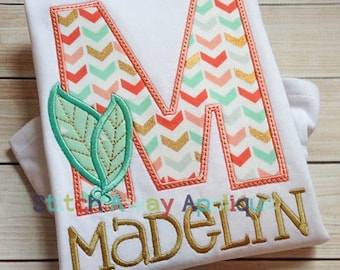 Tribal Feathers Alphabet Machine Applique Design