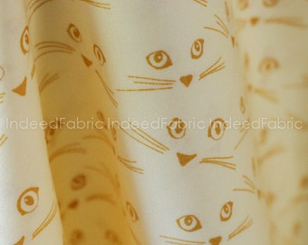 Cattitude Honey, Highlands by Violet Craft, Michael Miller Fabrics, Quilting Weight Cotton Fabric