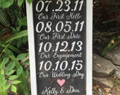 Love story sign, rustic wedding sign