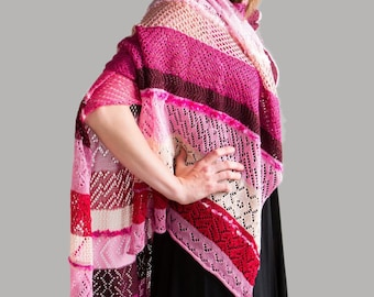Lace Wrap, Cruise Fashion, Evening Wear, Designer Accessories, Winter Stole, Valentine Gift, Bespoke Shawl, Autumn Wrap, Fall Stole,  273