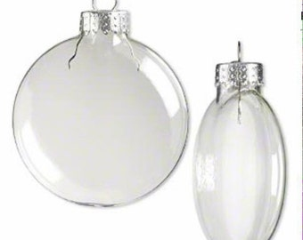 Pack of 20 - 100 mm Clear Plastic Flat Disc Christmas Ornaments